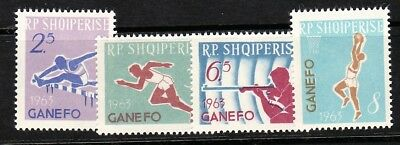 ALBANIA Sc 712-5 NH ISSUE OF 1964 -SPORT