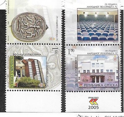 Bosnia & Herzegovina (SERB ADM) Sc 262-3 NH ISSUE OF 2005 - HISTORICAL PLACES