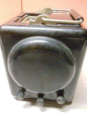 Vintage 1945 MEGOHMMETER for MEGOHMS by Interstate Manufacturing Company