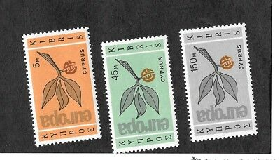 CYPRUS Sc 262-4 NH issue of 1965- EUROPA