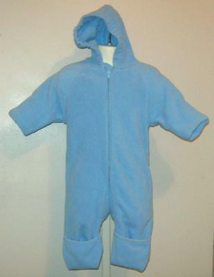 dc3e2c282 Lands End Blue Baby Fleece Bunting Coverall One Piece Boys 3 6 M Months