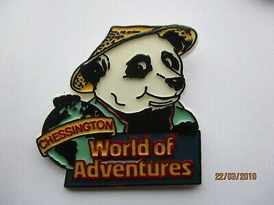SALE: CHESSINGTON WORLD OF ADVENTURES THEME PARK RARE PANDA PIN BADGE 99p