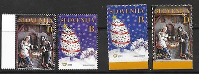 SLOVENIA Sc 473-6 NH issue of 2001 - CHRISTMAS