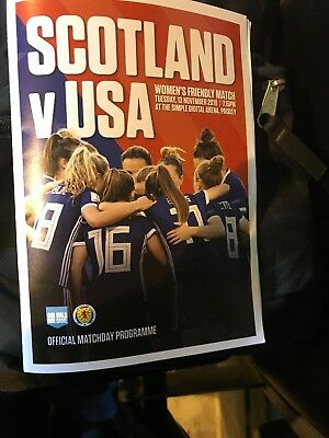 Scotland Ladies V USA Ladies International Friendly Match