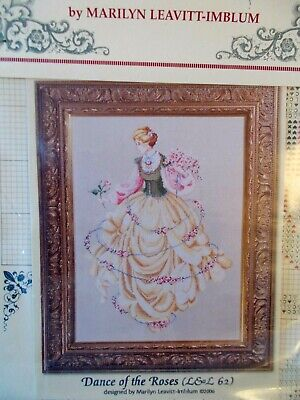 """Cross stitch Chart """" Dances of the Roses  """" New by Lavender & Lace"""
