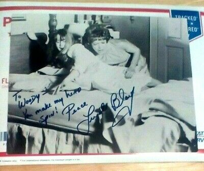 """EXORCIST movie photo signed by LINDA BLAIR - """"To Woody - You make my head spin!"""""""