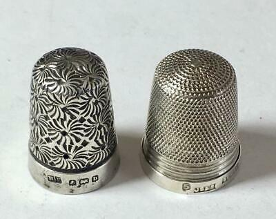 Antique & Vintage Sterling Silver Thimbles V. Good Condition From Estate Sale