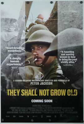 They Shall Not Grow Old - original DS movie poster 27x40 Peter Jackson