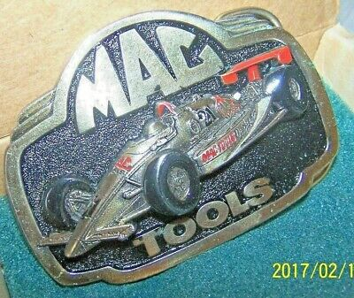 Vintage MAC TOOLS Limited Edition #21 Indy Car Belt Buckle Boxed