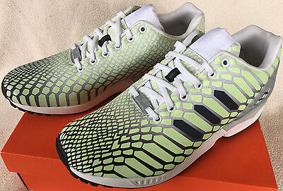 timeless design e217b 1297f ADIDAS ZX FLUX Xeno AQ4535 Glow Dark Torsion Marathon Running Shoes Men's 8  new