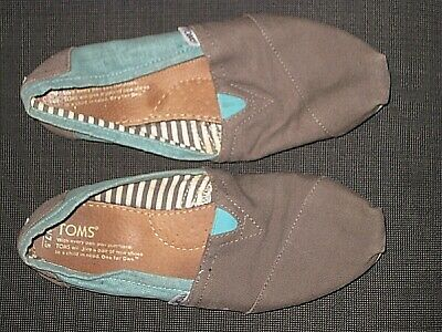 e19db69170b TOMS SIZE 10 Gray Canvas Wedges Espadrille Open Toe Shoes -  14.36 ...