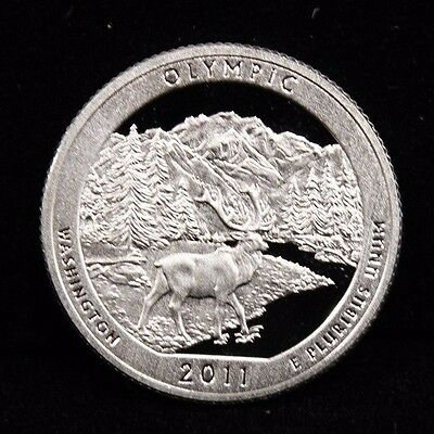 2011-S DCAM Parks Quarter Olympic National Gem Proof 90% Silver US Coin