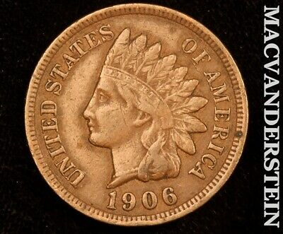 1906 Indian Head Cent-Extra Fine!! Scarce Better Date!! #e6579