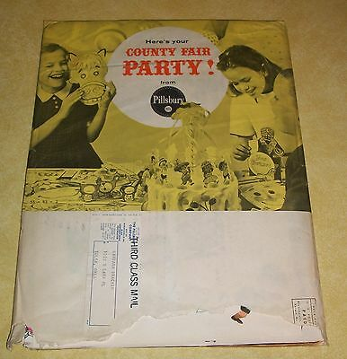 Vtg Pillsbury County Fair Party Kit Mail Order Promo Premium Paper Mask Game Toy