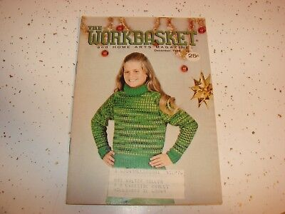 Lot Of 10  Vintage THE WORKBASKET  Knit And Crochet Magazines 1961 -1980  Nice