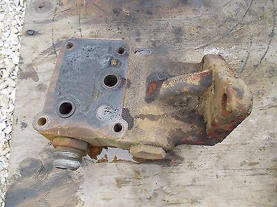 Farmall 340 RC tractor IH left hydraulic control valve side support