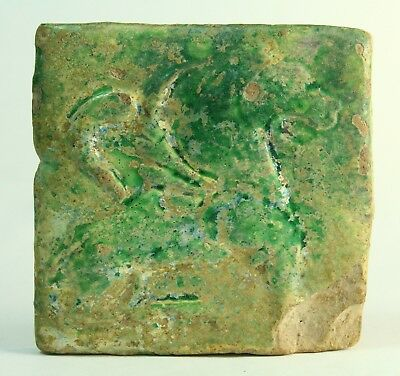 ! AUTHENTIC c.1600 BC Turquoise-Glazed Earthenware Square Tile