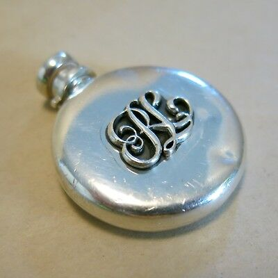 Victorian Sterling Silver Perfume Bottle for a Chatelaine 16.8g [4150]