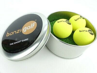Bonzi Golf - The Short Game Golf Ball. Aces Gift Pack/Game. Turf Mat and 3 Balls