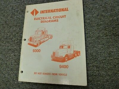 1996-1998 international 9300 9400 truck electrical wiring diagrams manual  1997