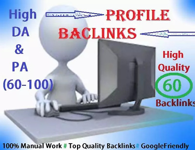 Create 60 High Da And Pa Profile Backlinks