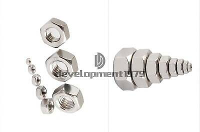 M3 M4 M5 M6 M8 Stainless Steel M2-M30 Full Hex Nuts Bolts Nuts