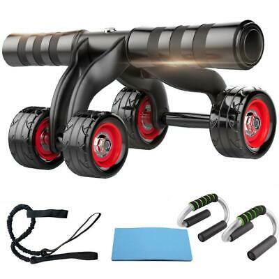 4 rueda Abdominal Muscle Gym Home exercise Fitness AB Roller formación BF