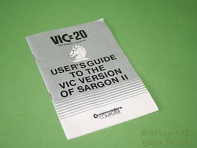 Commodore VIC 20 - User's Guide To The VIC Version Of Sargon II