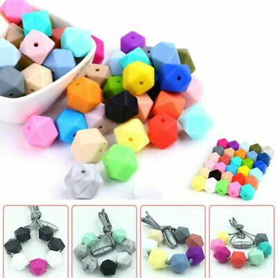5X Silicone Beads Teether Baby Teething Toy Bead Necklace Pacifier Chain Ring