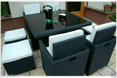 Cube Rattan Garden Furniture Set Chairs Sofa Table Outdoor Patio Wicker 8Seater]