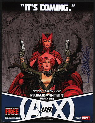 signed sketch variant AVENGERS VS X-MEN #0 6th print FRANK CHO SCARLET WITCH COA