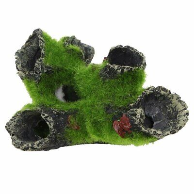 1x Rock Cave Aquarium Ornament Tree House Cave Bridge Fish Tank Decoration