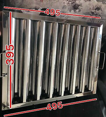 Stainless Steel Baffle Grease Filter - Canopy Filter Extraction 495 x 395 x 48mm