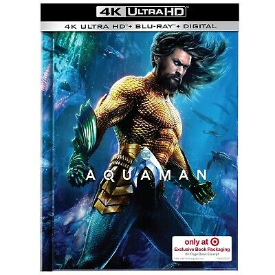 Aquaman ( U. S. Exclusivo Libro Embalaje, 4k Ultra HD +Blu-Ray +Digital Copia)