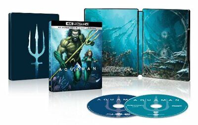 Aquaman ( U. S. Exclusivo Caja Metálica, 4k Ultra HD + Blu-Ray + Digital Copia ,