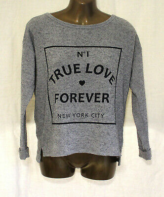 H&M  Marl Grey girls jumper Rolled cuffs Fine Knit  Age 14yrs EU  158/164.