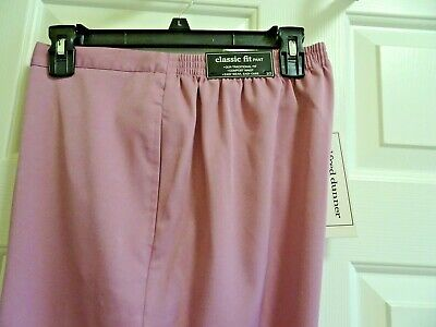 Alfred Dunner Women's Size 10M Classic Fit Pull On Lavender Pants-Nwt!-Pockets