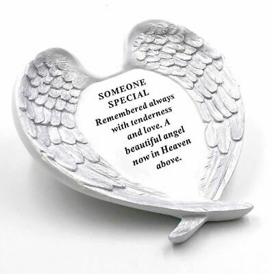 Someone Special Angel Wings Memorial Remembrance Graveside Plaque Tribute