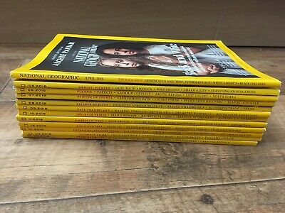National Geographic magazine bundle 12 issues Apr 18 To Mar 19