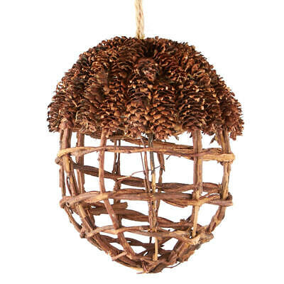 Natural Grapevine Acorn Ornament with Pine Cone Top | for Indoor Decor