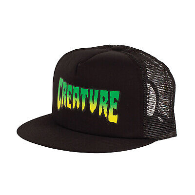 25654e20592 CREATURE SKATEBOARD LOGO Trucker Hat Black -  24.95