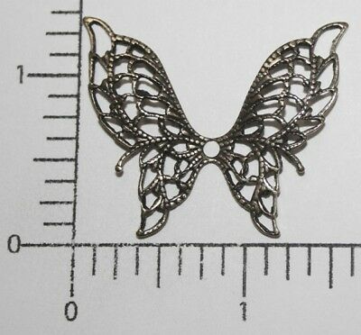 35203          Brass Oxidized Large Filigree Butterfly Jewelry Finding