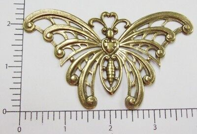 SOS3320  Jewelry Finding Large Oxidized Silver Plated Butterfly 1