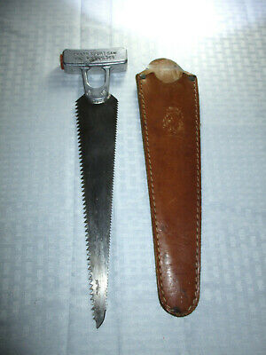 Vintage Knapp Sport Saw with Leather Scabbard