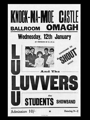 """Lulu Omagh 16"""" x 12"""" Photo Repro Concert Poster"""