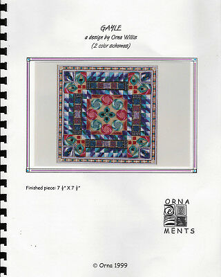 GAYLE Needlepoint Design by Orna ORNAMENTS Comb-Binding 1999