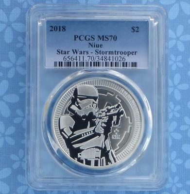 2018 PCGS MS70 Star Wars Empire Stormtrooper $2 Niue Coin, 1oz .999 Silver
