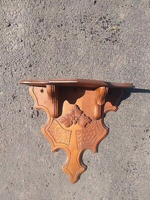 Antique Victorian Carved Wood Bracket Shelf