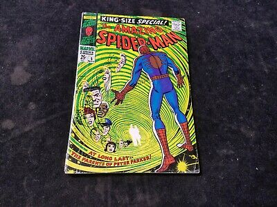 1968 Silver Age Marvel Comics Amazing Spider-Man King Size Special 5 Comic Book
