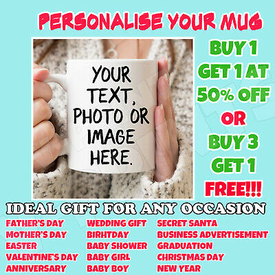 Personalised Mug Tea Coffee Cup Custom Mug Design Your Picture Text Logo Gift